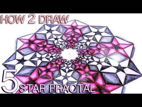 Video How To Draw Fractals - Golden Ratio Star Pattern - Sacred Geometry Tutorial download in MP3, 3GP, MP4, WEBM, AVI, FLV January 2017