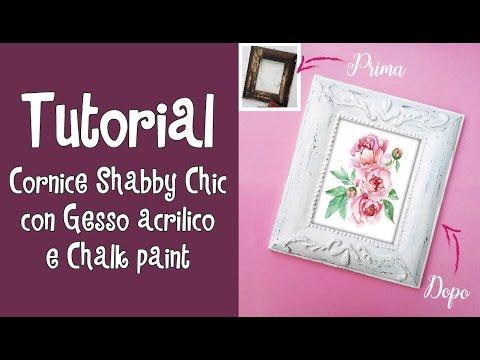 cornice shabby chic con gesso acrilico e chalk paint