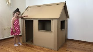 Video A kids house Out of Cardboard Box MP3, 3GP, MP4, WEBM, AVI, FLV Maret 2019