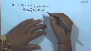 Mod-30 Lec-32 Types Of Discontinuities, Continuity And Compactness