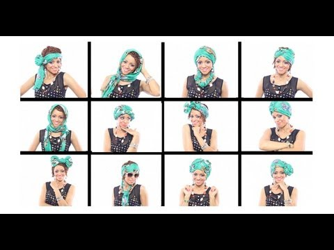 12 Head Wrap Scarf Tutorials In Under 7 Minutes