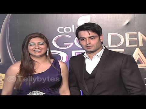 Vivian Dsena and Vahbbiz at Golden Petal Awards