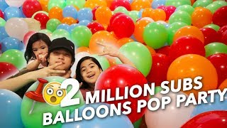 Video 2 MILLION BALLOONS SUBS POP PARTY | Ranz and Niana MP3, 3GP, MP4, WEBM, AVI, FLV Februari 2019