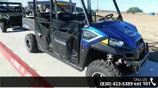 7. 2018 Polaris® Ranger® Crew® 570-4 EPS Navy Blue Metall...