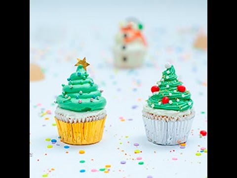 cupcake ad albero di natale - la videoricetta