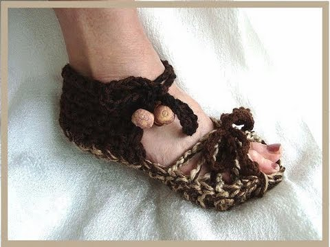 HOW TO CROCHET ADULT SANDALS.