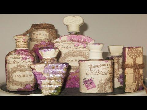 decoupage - come decorare delle vecchie bottigliette di profumo