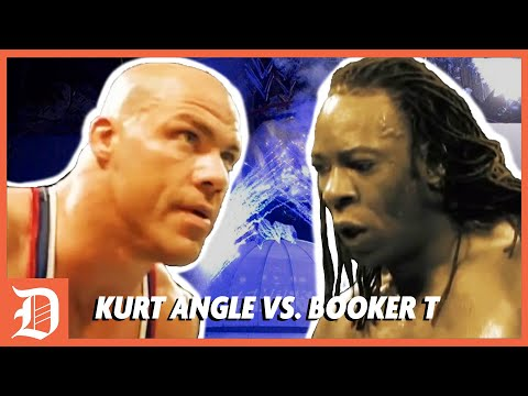 Kurt Angle vs. Booker T Retold by James   DEADLOCK Podcast Highlights