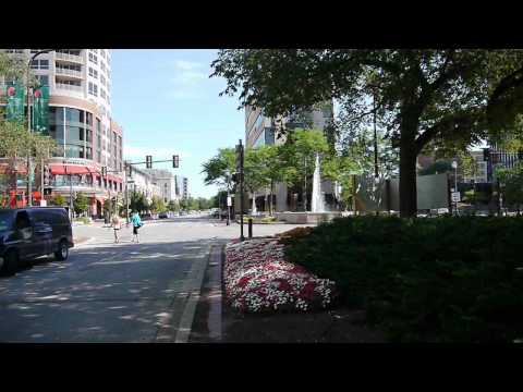 Walking downtown Evanston: Joe and Andy on Sherman Avenue