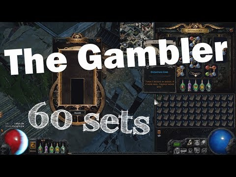 Path of Exile: The Gambler divination cards gamble - 300 cards   60 sets