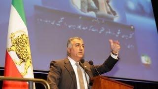 سخنان شاهزاده در روز نخست نشست شورای ملی ایران