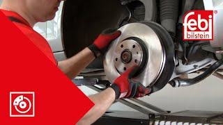 Front brake pad and disc change - febi bilstein Technical Video