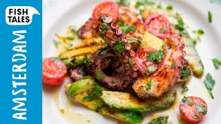 Grilled OCTOPUS & Avocado Salad | Bart's Fish Tales by Bart's Fish Tales