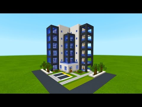 "Minecraft Tutorial: How To Make A Modern Hotel ""2019 City Tutorial"""