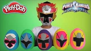 Video Power Rangers Ninja Steel Play-Doh Surprise Eggs Opening Morphing Fun With Ckn Toys MP3, 3GP, MP4, WEBM, AVI, FLV Oktober 2018