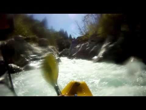 Koritnica and Soca rivers white water kayaking, Slovenia 20-09-2010
