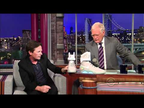 0 Michael J. Fox Talks Nike Mag On David Letterman