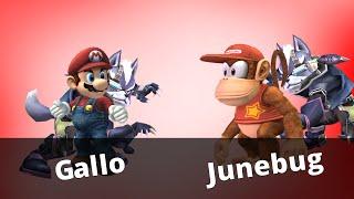 CRAZY SET [WTT2 – Gallo (Mario / Wolf) vs Junebug (Diddy / Wolf)]