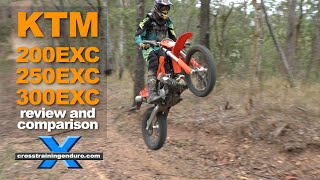 8. KTM 200 EXC  v 250 EXC v 300 EXC TEST: two stroke review