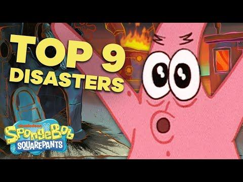Top 9 Patrick Disasters! 😬 #BestSpongeBobMoments   SpongeBob