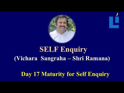 Maturity for Self-Enquiry D17 #vicharamarga #selfenquiry #vicharamarg #advaita