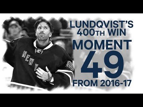 No 49/100: Lundqvist's 400th win