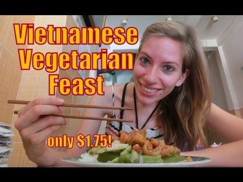 Vietnamese vegetarian restaurant in Nha Trang, Vietnam