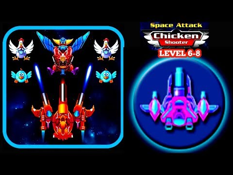 Space Attack Chicken Shooter Gameplay 6,7,8