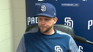 Padres manager Andy Green discusses the injury status for Miguel Diaz and a great job by the bullpen in the Padres' 3-2 victory ...