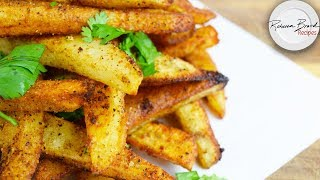 Crispy Oven Baked French Fries Recipe  | Extra Crunchy