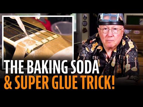 The baking soda and super glue trick