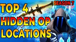 *NEW* BEST 4 HIDDEN OP PLACES To LAND For EASY WINS and Loot (Fortnite Map Season 7)