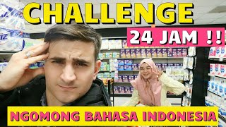 Video CHALLENGE SUAMI NGOMONG BAHASA INDONESIA 24 JAM!! MP3, 3GP, MP4, WEBM, AVI, FLV Maret 2019