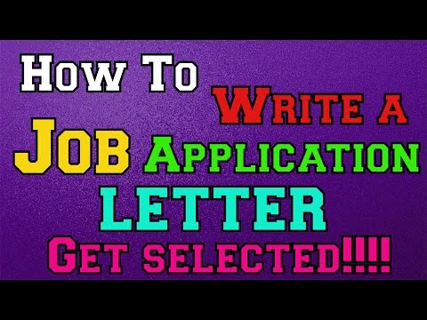 Application Letter For Job Vacancy