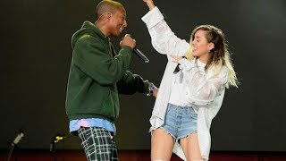 Pharrell Williams &  Miley Cyrus - Happy (Live at One Love Manchester)