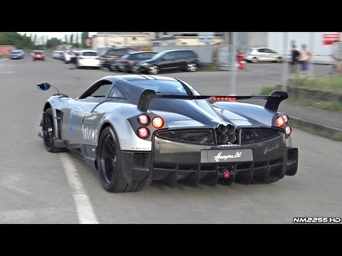 Pagani Huayra BC BRUTAL Accelerations And Blue Flames!!