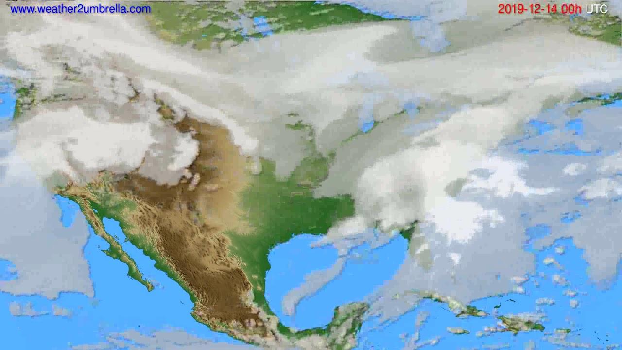 Cloud forecast USA & Canada // modelrun: 00h UTC 2019-12-13