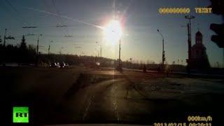 Russian meteor explosion: Spectacular dash cam video of meteorite fireball falling in Urals
