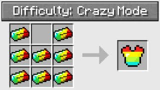 """Minecraft UHC but with """"crazy mode"""" difficulty.."""