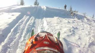2. 2002 Arctic Cat ZL 600 hitting a big snow drift, fail at the end