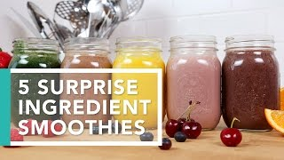 5 Surprise Ingredient Smoothies | Better Breakfasts by The Domestic Geek