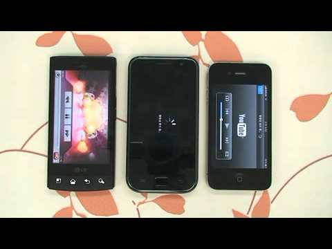 LG-LU3000 vs 갤럭시S vs 아이폰4 비교