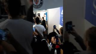 Rencontre de Tibo inshape(salon du fitness)
