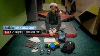Adam Ondra Live Stream Chat Q&A Invitation - 17 December 2019 by Adam Ondra