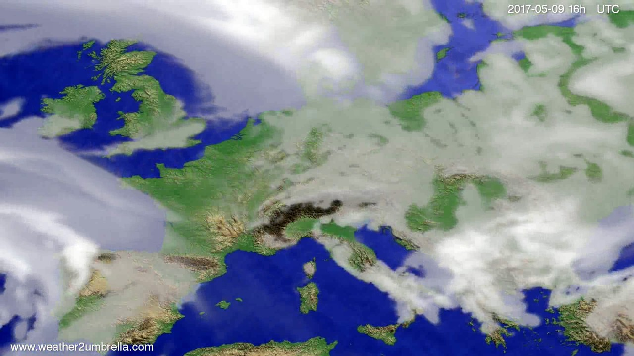 Cloud forecast Europe 2017-05-06