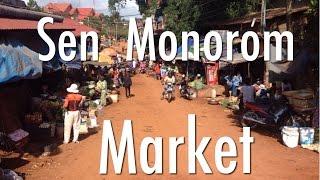 Sen Monorom Cambodia  City new picture : Sen Monorom Market in Mondulkiri Province, Cambodia.
