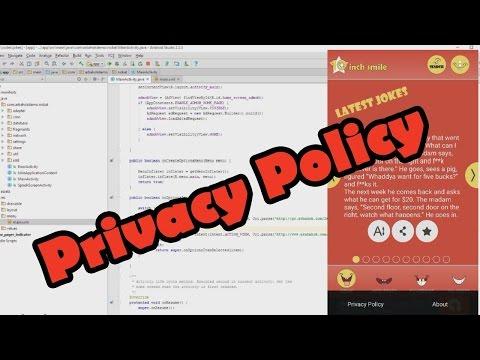 , title : 'شرح طريقة إضافة سياسة الخصوصية Privacy Policy داخل تطبيقات و ألعاب الاندرويد'
