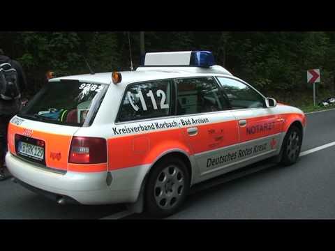Edersee: Motorradfahrer verletzt, Hubschrauber