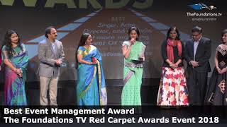 Drishya wins The Foundations TV Best Event Management Award