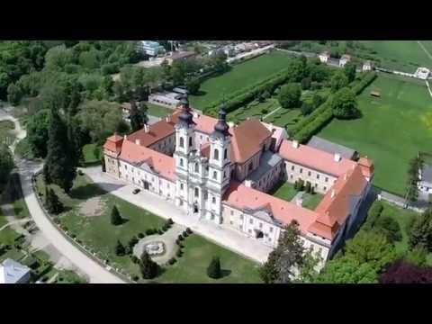 Aerial view of the Monastery in Jasov